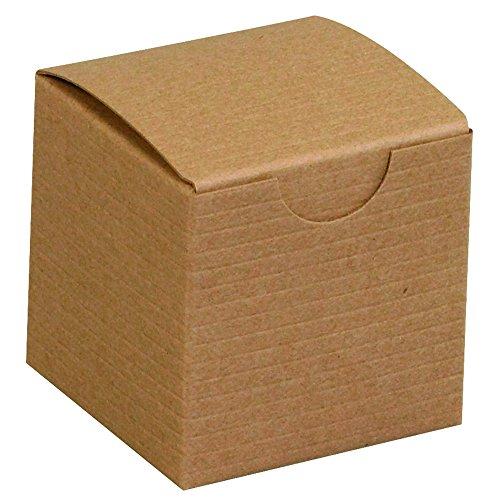"Aviditi Gift Boxes, 2"" x 2"" x 2"", Kraft, Pack of 200 (GB222K)"