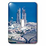3dRose Danita Delimont - Cities - UAE, Abu Dhabi. Marina Village and Arabian Gulf, aerial view - Light Switch Covers - single toggle switch (lsp_277130_1)