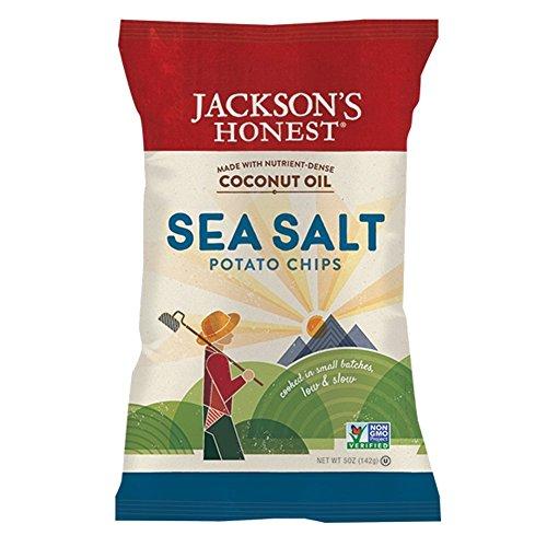 Jackson's Honest Sea Salt Potato Chips Made with Coconut Oil, 5 Ounce