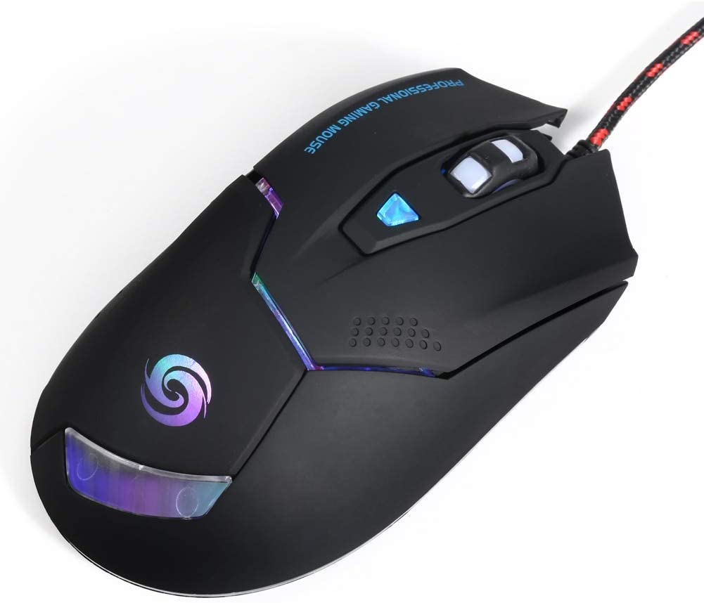 YOUKITTY K1020 RGB Backlight USB Optical Gaming Mouse 1600//2400//3200Dpi Ergonomics 6 Buttons Gamer Mice for Overwatch//Dota2
