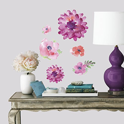 RoomMates Kathy Davis Watercolor Blooms Peel and Stick Wall Decals
