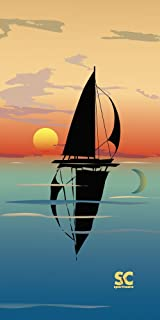 """product image for Sport N Care Marine Towel (Mirror Sail) Beach Towel 32"""" x 60"""""""