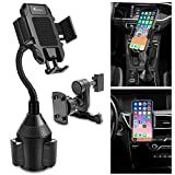 Car Phone Holder, Vansky 2-in-1 Cup Phone Holder and Air Vent Mount for iPhone Xs Max R X 8 Plus 7 Plus 6S Samsung Galaxy S10 S9 Edge S8 LG Sony Huawei and More