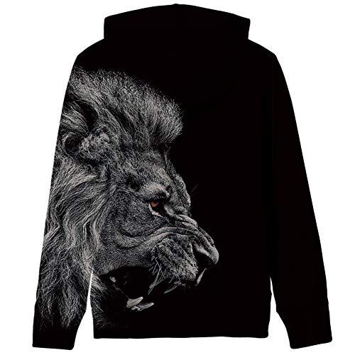 RAISEVERN Unisex Kinder Jungen Mädchen Lustig Hoodies Kapuzenpullover Coole 3D Grafik Drucken Sweatshirts Galaxy Langarm Sweater Pullover Hooded für 3-16Y S-XXXL