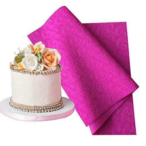 Fondant Impression Mat (ART Kitchenware Large Impression Cake Lace Mats 23.6x 15.75 inches Silicone Lace Mould Fondant Cake Decorarting Tools BLM-25)