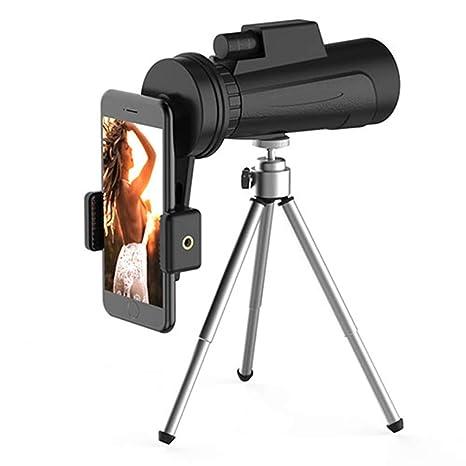 Telescopio monocular de 40 x 60 HD con Soporte para Smartphone y ...