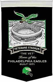 """Philadelphia Eagles Winning Streak Retro Veterans Stadium Wool Banner (15"""""""