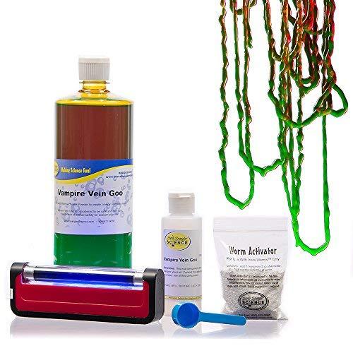Steve Spangler's Vampire Color-Changing String Slime, 32 oz DIY Slime Kit by Steve Spangler Science