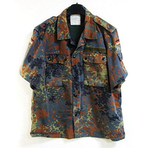 トンとげのある宇宙飛行士ドイツ連邦国軍放出 フレックターン カモ半袖シャツ 【M相当】 綿100% 中古 【アウトドアシリーズ】
