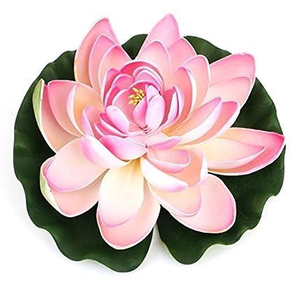 Amazon.com : eDealMax espuma Flor de Loto Paisaje peces de acuario tanque ornamento, Verde/rosa : Pet Supplies