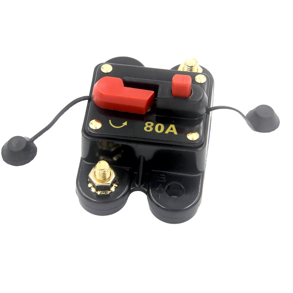RKURCK Circuit Breaker 60A 80A 100A 150A 200A 250A Car Audio Fuse Holder for Trolling Motor Auto Marine Boat ATV RV Stereo Audio Inverter System Protection 250 Amp