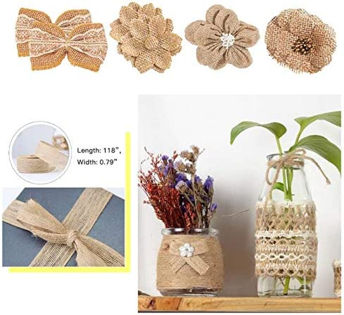 Plastic Jewelry Pin Vise Hand Drill with 4Pcs Precision Pin Vise for Wood 51Pcs Dried Leaves Flowers for Resin Crafts Candles Making 3M Burlap Fabric Ribbon for Wreaths Halloween Chrismas
