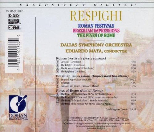 Respighi: Roman Festivals, Brazilian Impressions, Pines of Rome by Alliance
