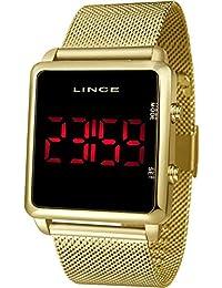 Relógio Lince Masculino Ref: Mdg4596l Pxkx Digital LED Dourado