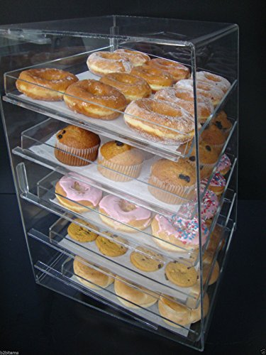 Displays2buy Acrylic Pastry Bakery Donut Bagels Cookie Display Case w/5 trays by Displays2buy (Image #3)