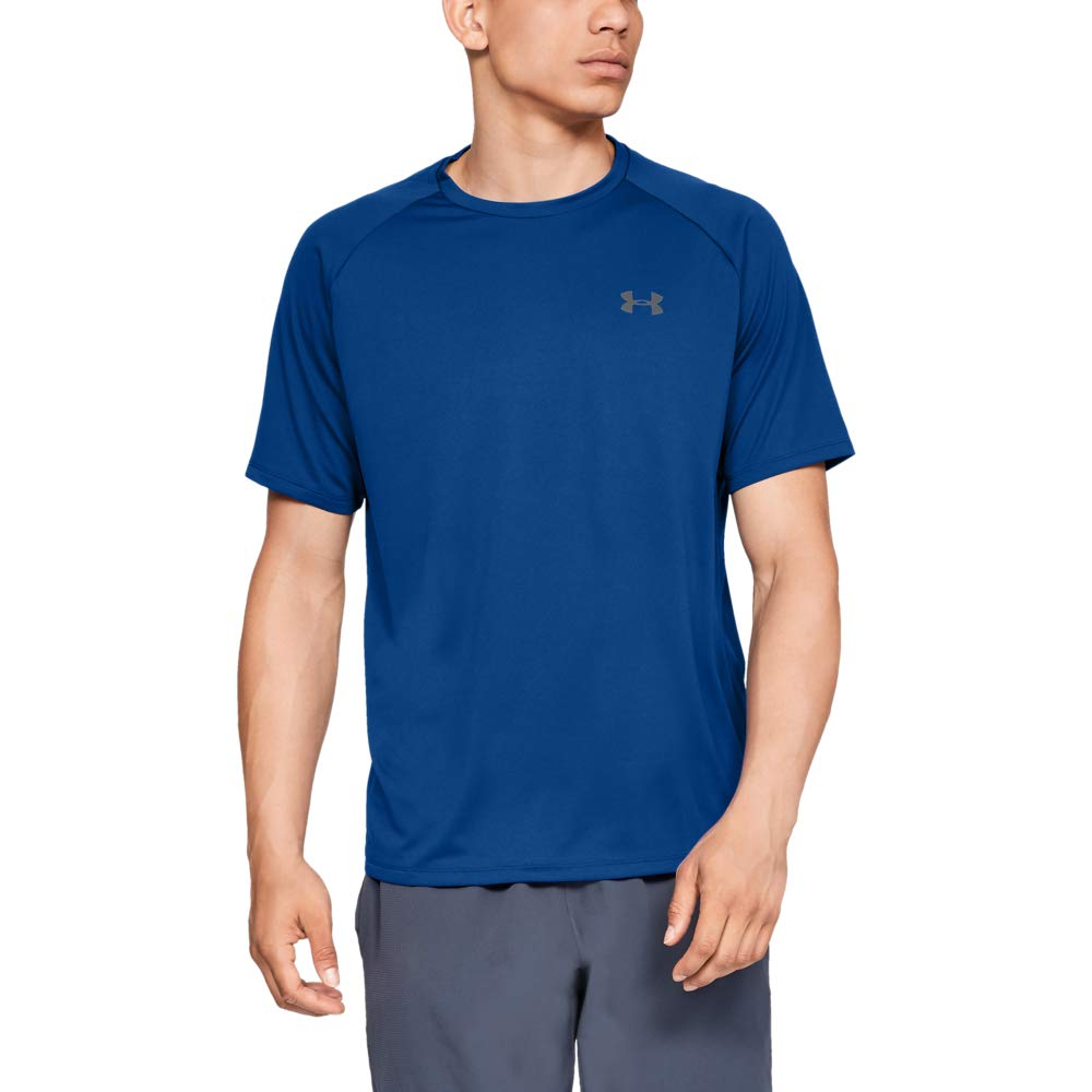 UNDER ARMOUR mens Tech 2.0 Short Sleeve T-Shirt, Royal (400)/Graphite, 4X-Large by Under Armour