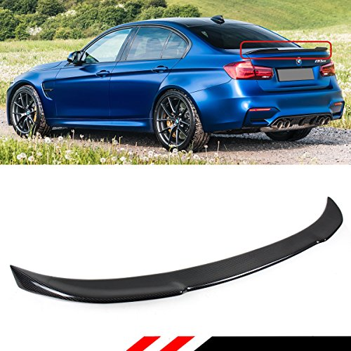 (Cuztom Tuning Fits for 2013-2018 BMW F30 330i 335i 340i & 2015-2018 F80 M3 CS Style Carbon Fiber Trunk Lid Spoiler )