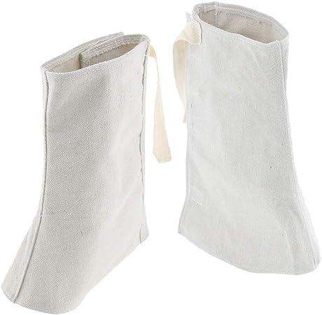 25cm blanc Homyl 2 Pieces Soudure Chaussures de Protection Chaussure Gu/êtres Pieds Couverture pour Soudeur