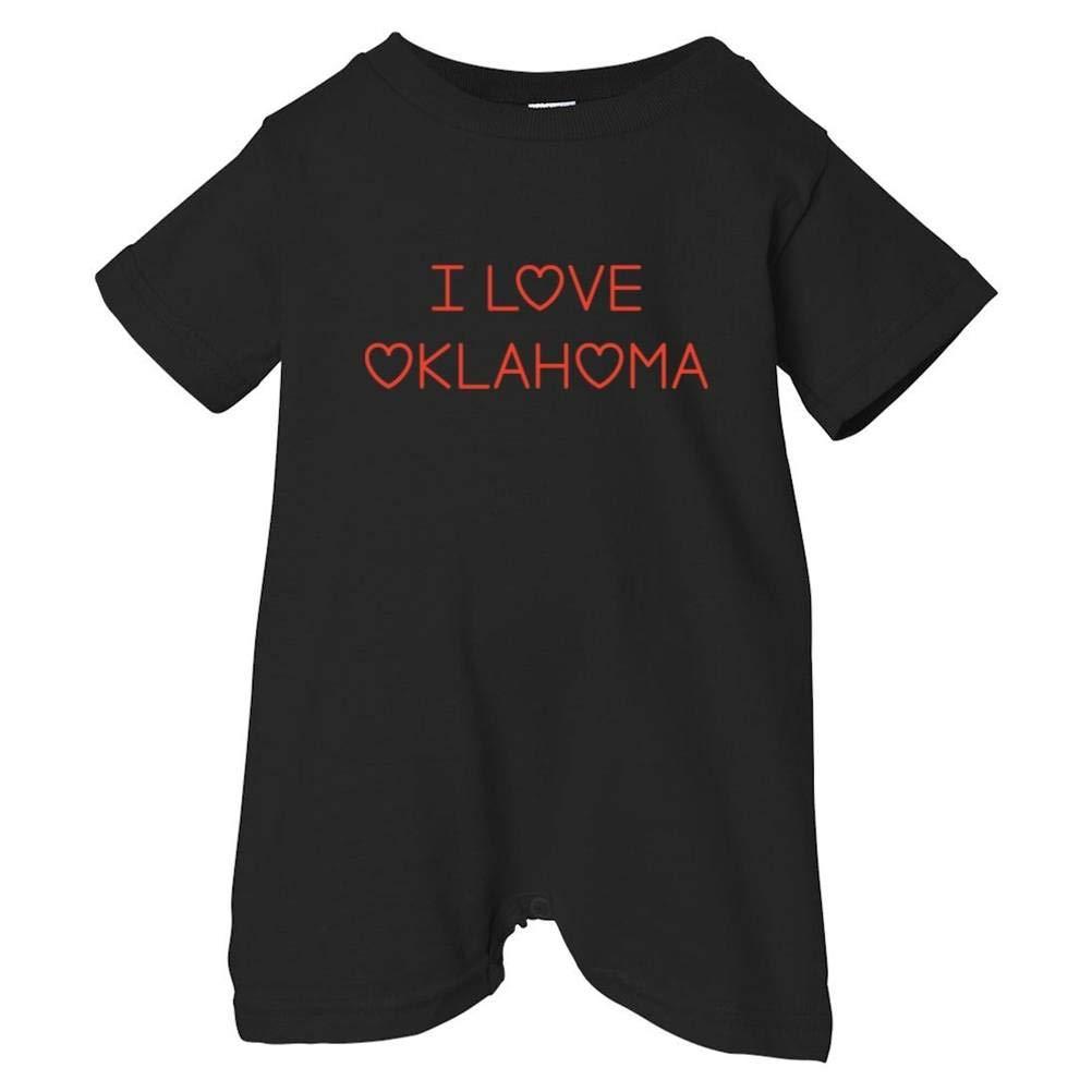 Mashed Clothing Unisex Baby I Love Oklahoma T-Shirt Romper