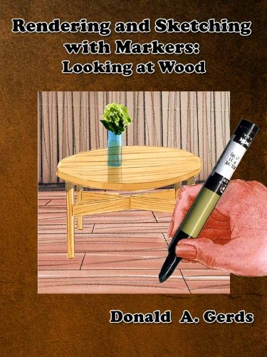 Rendering and Sketching with Markers: Looking at wood