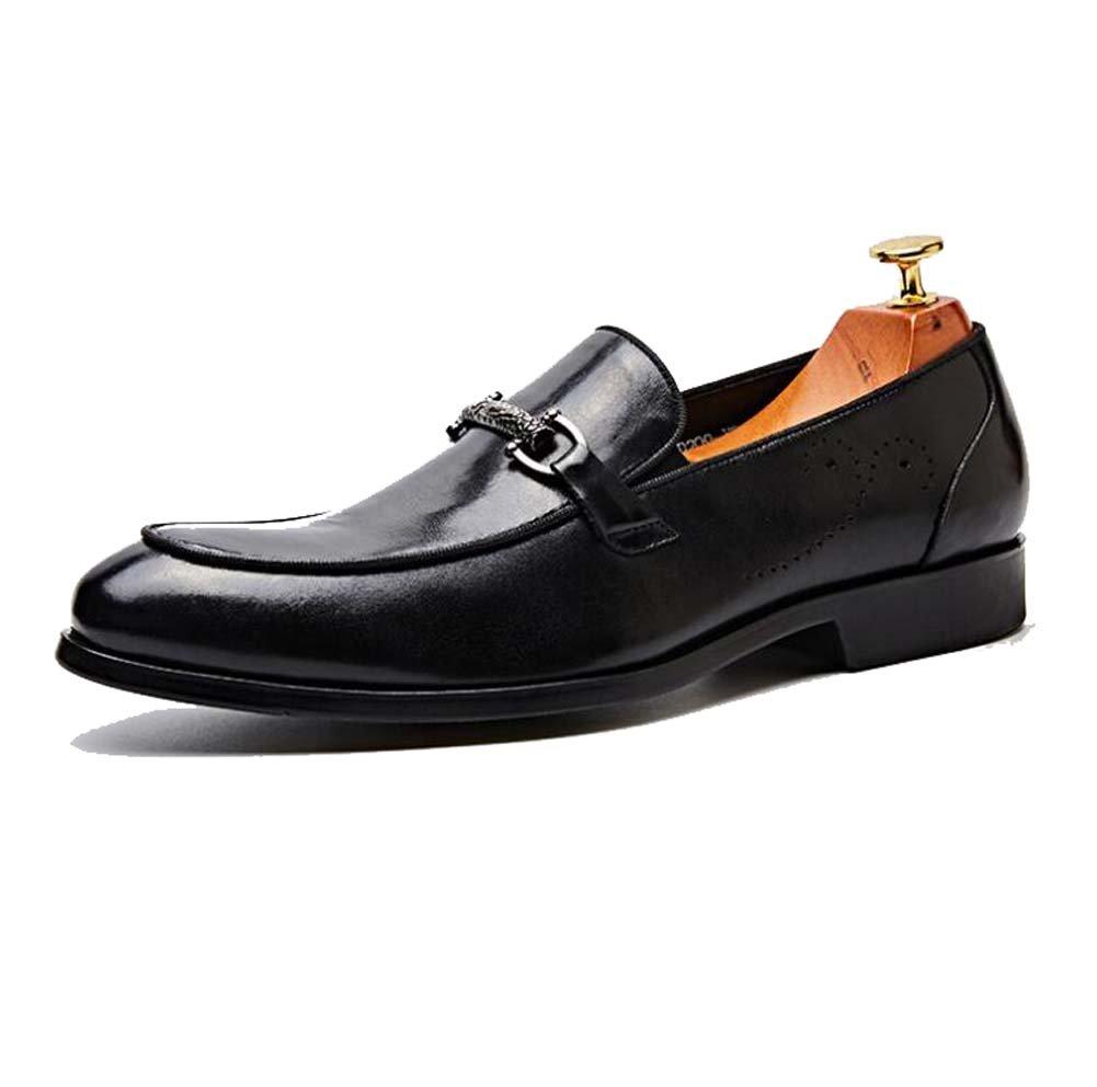 Zapatos de Vestir para Hombres Zapatos de Trabajo Vestido de Negocios Acentuados Zapatos de Boda Zapatos de Cuero de Primera Capa Marea Baja 41 EU Negro
