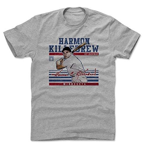 Minnesota Twins Heather - 500 LEVEL Harmon Killebrew Cotton Shirt (XX-Large, Heather Gray) - Minnesota Twins Men's Apparel - Harmon Killebrew Sport B