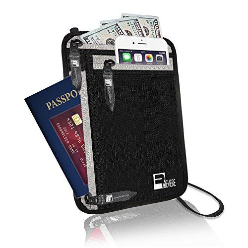 RFID Neck Pouch Passport Wallet Traveler Safe Money Holder iPhone Phone Stash by Revere Sport (Image #7)