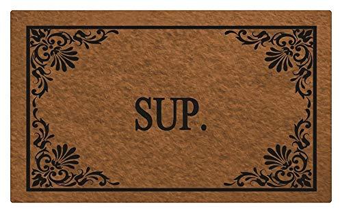 (YQ Park Doormat Entrance Floor Mat Funny Doormat Sup. Door mat Decorative Indoor Outdoor Doormat Non-Woven Fabric Top)