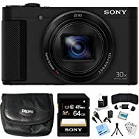 Sony Cyber-shot HX80 Compact Digital Camera 64GB Memory Card Bundle includes Camera, Card, Reader, Wallet, Case, HDMI Cable, Mini Tripod, Screen Protectors, Cleaning Kit, Beach Camera Cloth and More! Basic Facts Review Image