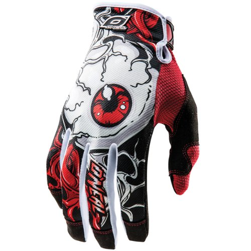 ONeal MX Jump Mutant Mens Red/Black Leather Motorcycle Gloves - 11