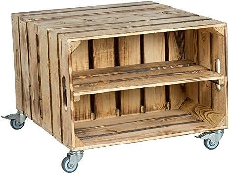 2er Mesa cajón de fruta Elfriede con Dimensiones Del Rodillo 60 x 54 x 42cm Mesita