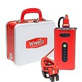 Weego Jump Starter 44 - Jump Starts 7 Liter Gas & 3.5L Diesels – Quick Charges Phones, 28 -Hr 500 Lumen Flashlight, Premium, USA-Designed & Engineered IP65 Water Resistant