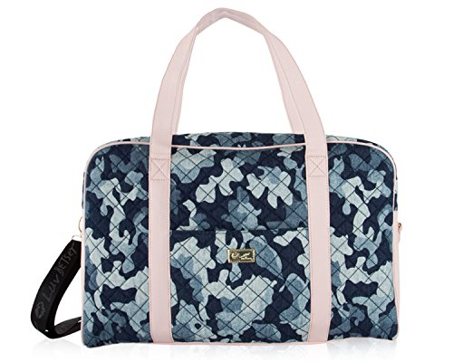 New Betsey Johnson Logo Weekender Luggage Carry On Bag Travel Tote Pink (Star Quilted Tote Bag)