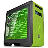 Thermaltake Core V51 Riing Edition CA-1C6-00M8WN-00 Mid Tower ATX Gaming CPU Cabinet (Black and Green)