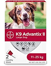 K9 Advantix II Flea and TickTreatment for Large Dogs weighing 11 kg to 25 kg (24 lbs. to 55 lbs.) - 2 pack
