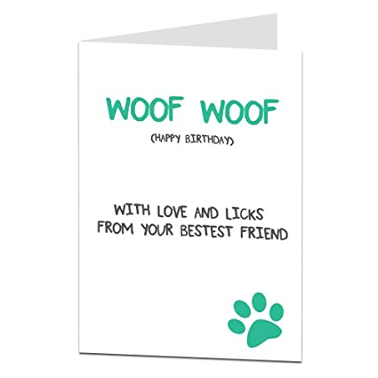 Amazon Funny Birthday Card Dog Pet Theme Perfect For The Owner