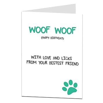 Amazon.com: Tarjeta de cumpleaños divertida para perro ...