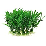 "CNZ 10-piece Green Plastic Aquarium Tank Plants Grass Decoration 4.5"" Tall"