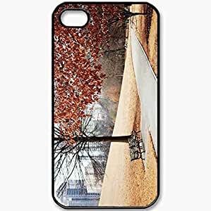 Protective Case Back Cover For iPhone 4 4S Case Alley Autumn Bench Black