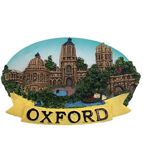 (Fridge Magnet University of Oxford England 3D Resin Handmade Craft Tourist Travel City Souvenir Collection Letter Refrigerator Sticker)