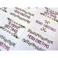 100x Season Greeting Stickers Labels Decorating Present Seals 30mm Xmas Envelope
