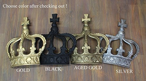Delightful Gold Silver Rust King Crown Or Queen Prince Wall Art Princess Metal England Part 15