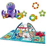 Nuby Octopus Hoopla Bathtime Fun Toys, Purple & Baby Einstein Discovery Seas Multi Mode Gym