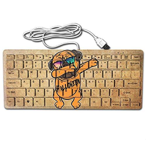 Halloween Hip Hop Dog Ultra-Slim 78 Keys Gaming Keyboard Can Apply Or Be Used Universally ()