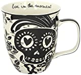 Karma Gifts Boho Black & White Mug, Sugar Skull