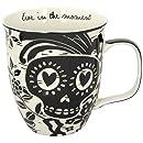 Karma Gifts Boho Black & White Mug, Sugar Skull