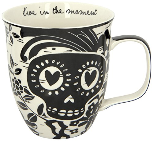 Karma Gifts Black And White Mug, Sugar Skull