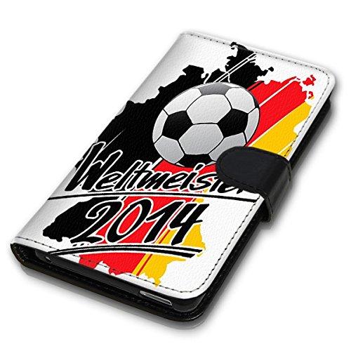 Wallet Book Style Flip Handy Tasche Case Schutz Hülle Schale Motiv Etui für Apple iPhone 6 / 6S - Design Flip MVD356