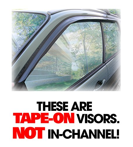 C&C Car Worx Set of 2 Tape-On Outside-Mount WV-03F-T Side Window Visor Rain Guard Deflectors to fit Subaru Forester 2003-04-05-06-07-08