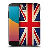 Head Case Designs Great Britain British Vintage Flags Hard Back Case for LG Nexus 5